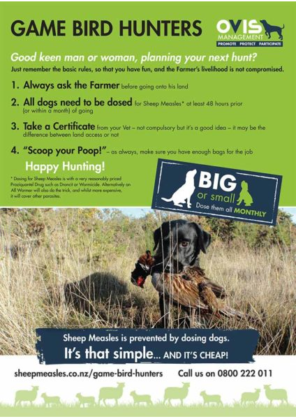 Game Bird Hunters Info Sheet